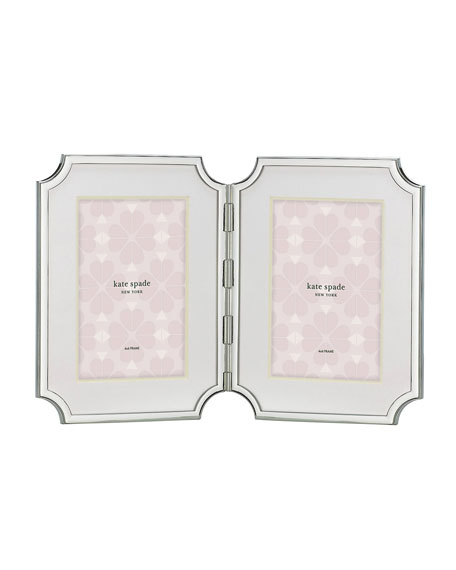 sullivan street double picture frame, silver
