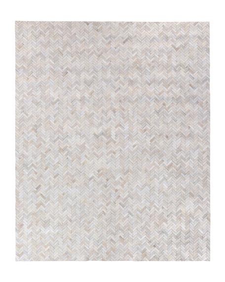 Bregman Hand-Stitched Hair Hide Rug, 12' x 15'