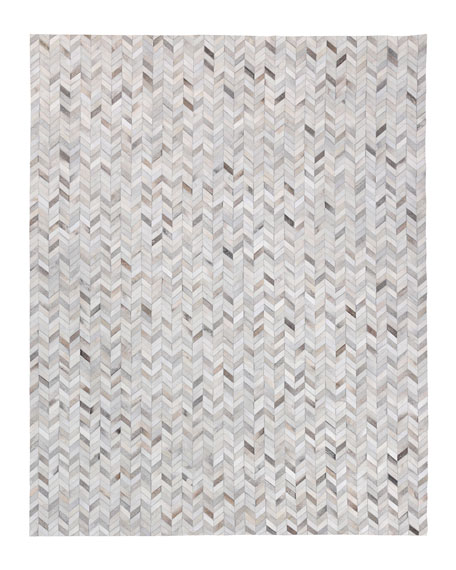 Burket Hand-Stitched Hair Hide Rug, 8' x 11'