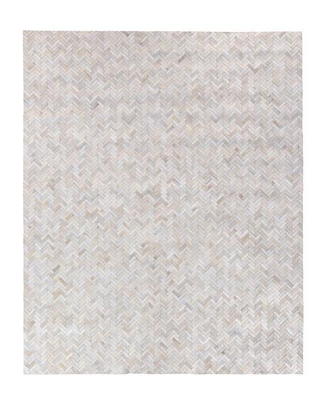 Bregman Hand-Stitched Hair Hide Rug, 5' x 8'