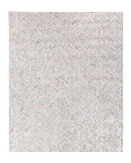 Bregman Hand-Stitched Hair Hide Rug, 10' x 14'
