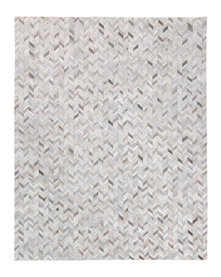 Burket Hand-Stitched Hair Hide Rug, 10' x 14'