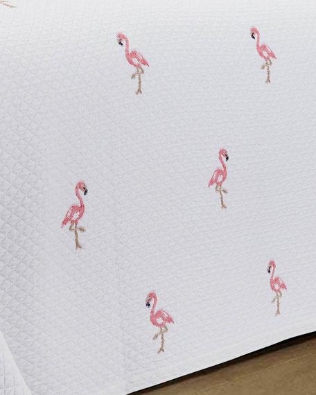 Flamingo European Matelasse Twin Coverlet