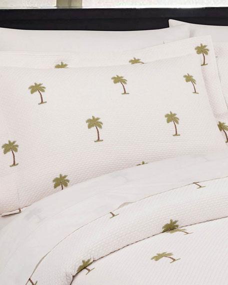 The Palm European Matelasse Standard Sham