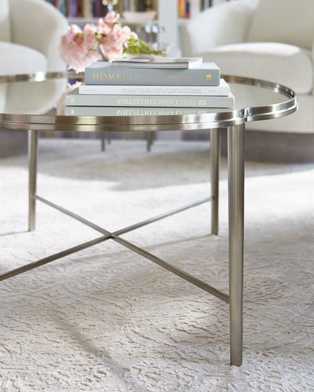 Allure Metal Oval Coffee Table