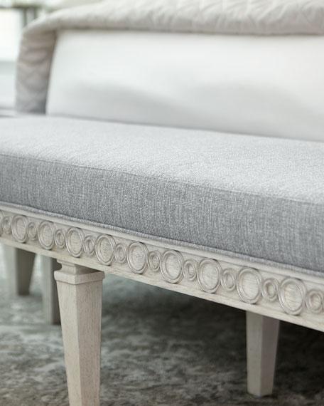 Allure Silver Lustre Bench