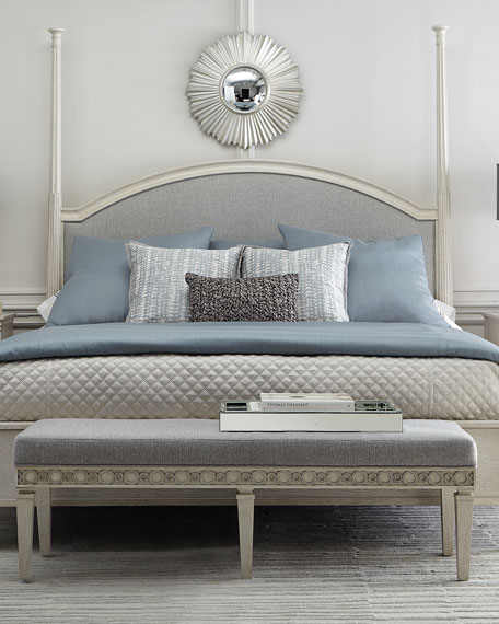 Allure Upholstered Queen Panel Bed