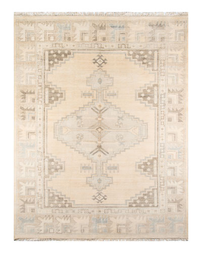 Everson Hand-Knotted Rug  5' x 8'