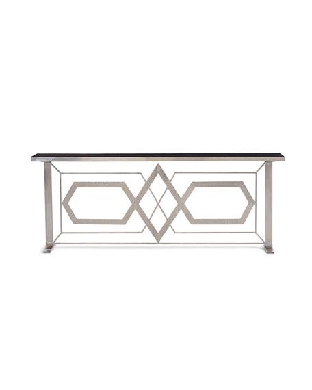 Umaid Palace Plated Iron Console Table