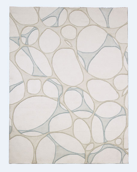 Abstract Hand-Tufted Rug, 5' x 8'