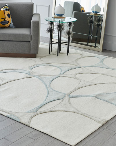 Abstract Hand-Tufted Rug  5' x 8'