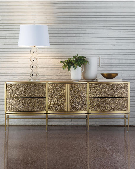Crinkle Bronze Floating Console