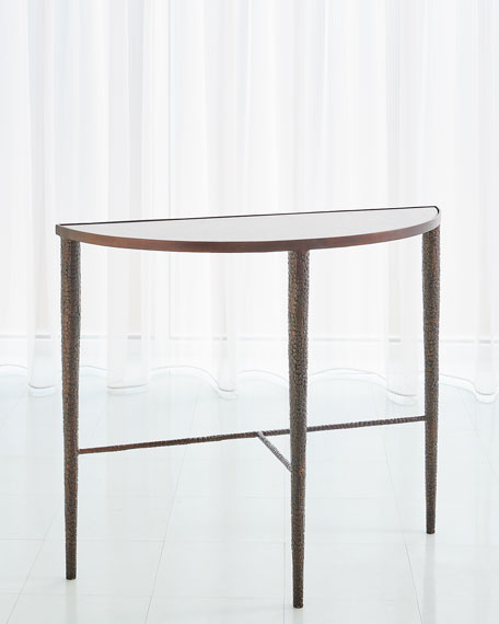 Hammered Demi Console Table
