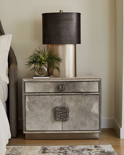 Metro Hair-On-Hide Nightstand