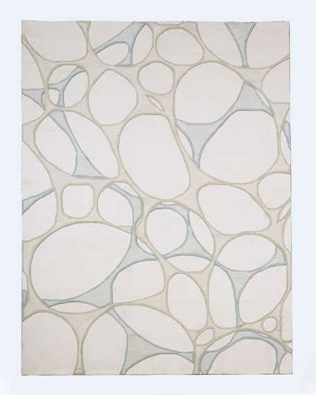 Abstract Hand-Tufted Rug, 9' x 12'