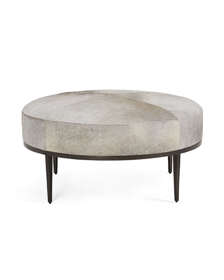Urban Hair-on-Hide Cocktail Ottoman