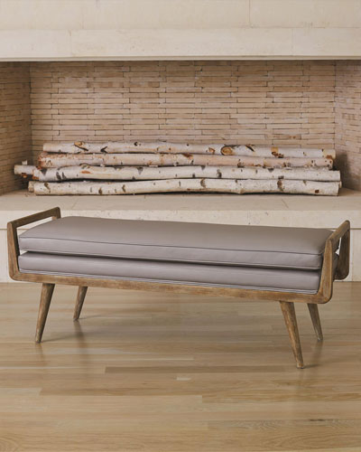 Lucas Leather Bench
