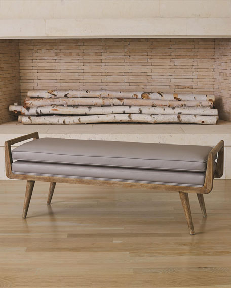 Global Views Lucas Leather Bench
