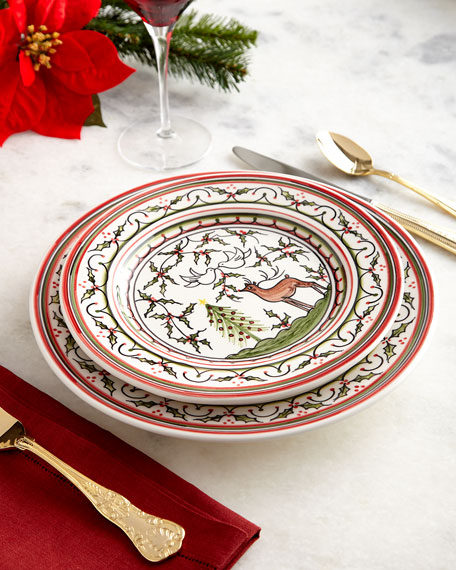 Christmas Pavoes Salad Plates, Set of 4