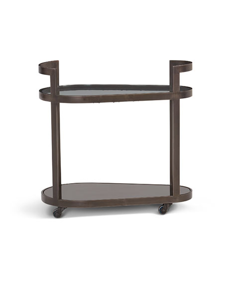 Regan Antique Gunmetal Bar Cart