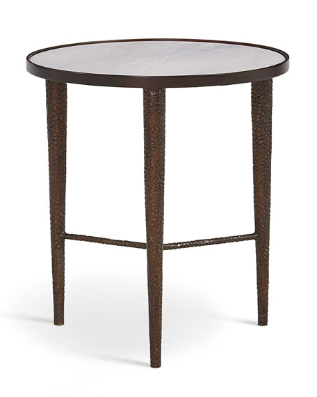 Hammered Bronze End Table