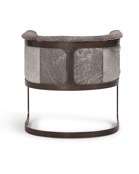 Regan Hair-On-Hide Barrel Chair