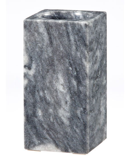 Myrtus Collection Square Cloud Gray Marble Tumbler