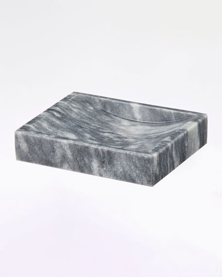 Myrtus Collection Square Cloud Gray Soap Dish