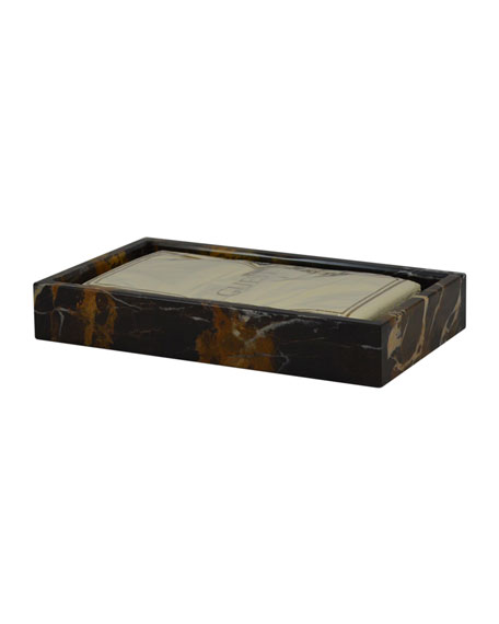 Myrtus Collection Black & Gold Marble Guest Towel Tray