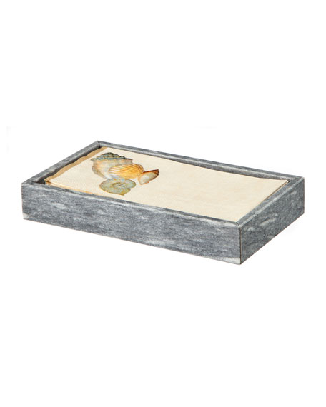 Eris Collection Cloud Gray Marble Guest Towel Tray