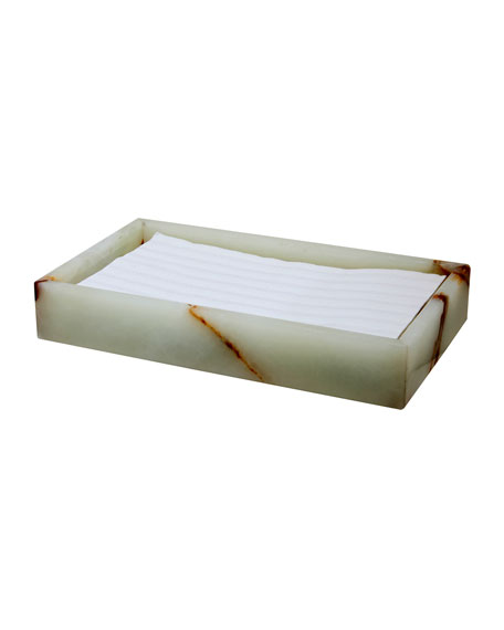 Myrtus Collection Light Green Onyx Guest Towel Tray