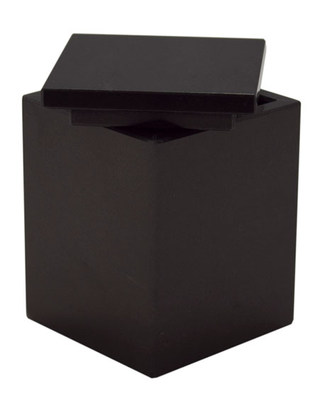 Myrtus Collection Jet Black Marble Canister