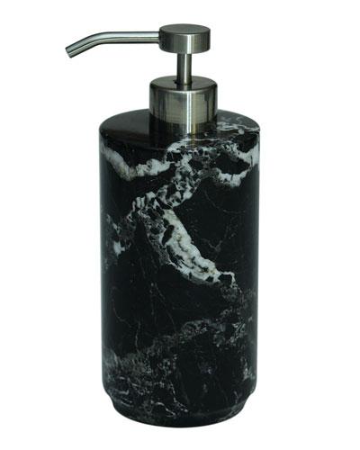 Eris Collection Black Zebra Marble Soap Dispenser