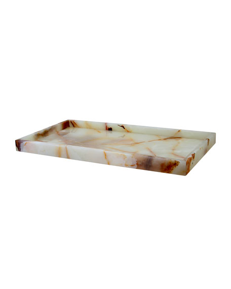 Myrtus Collection Light Green Onyx Large Vanity Tray