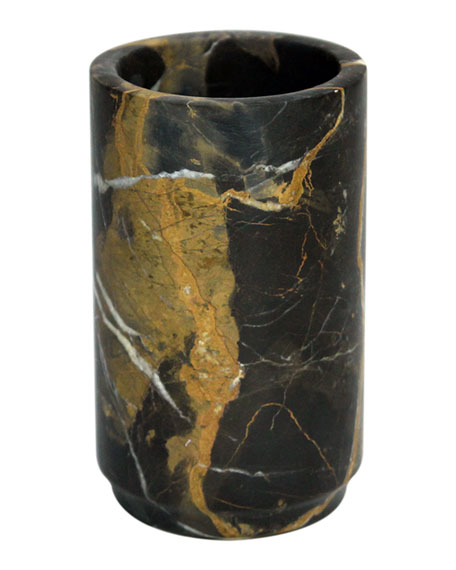 Eris Collection Black And Gold Marble Tumbler