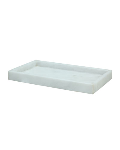Eris Collection Pearl White Marble Small Vanity Tray