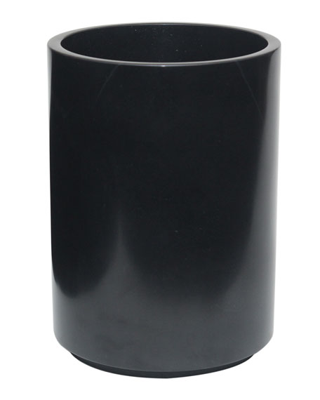 Marble Crafter Eris Collection Jet Black Wastebasket with