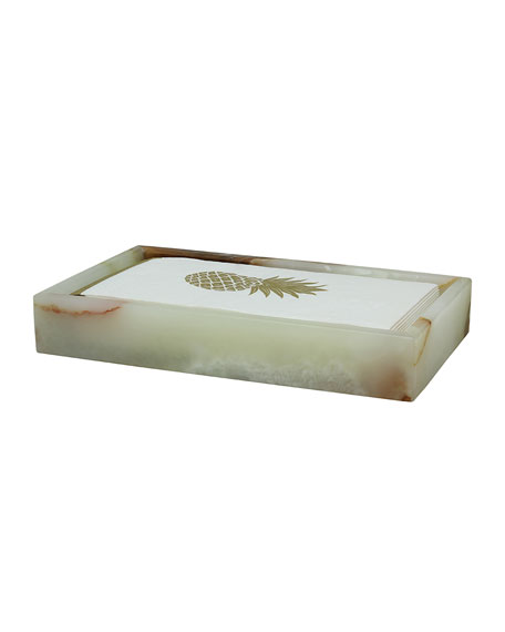 Eris Collection Light Green Onyx Guest Towel Tray