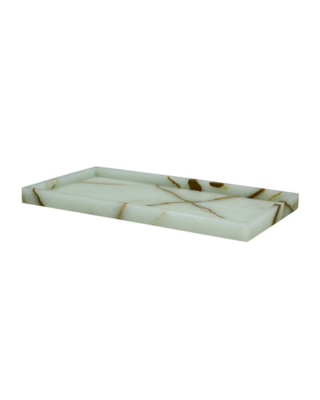 Eris Collection Light Green Onyx Large Vanity Tray