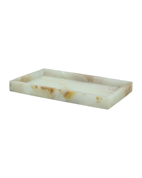 Eris Collection Light Green Onyx Small Vanity Tray
