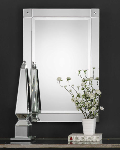 Mirror with Convex Detailed Corners