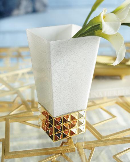 Topaz Pyramid Vase
