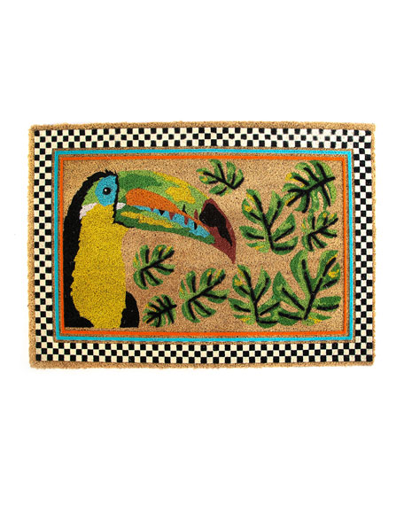 MacKenzie-Childs Toucan Entrance Mat
