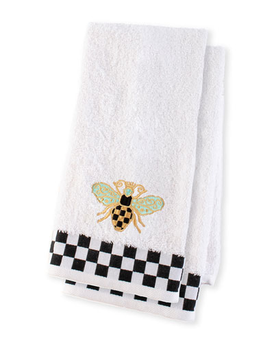 Queen Bee Hand Towels  Set of 2