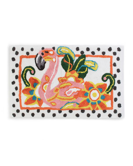 MacKenzie-Childs Flamingo Standard Bath Rug