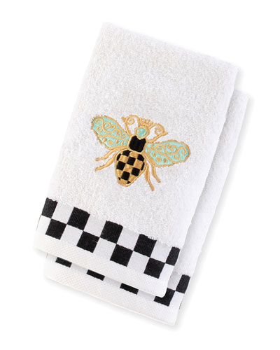 Queen Bee Fingertip Towels  Set of 2