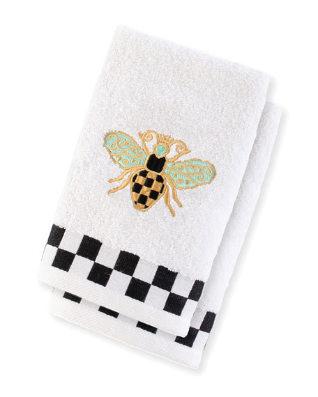 Queen Bee Fingertip Towels, Set of 2