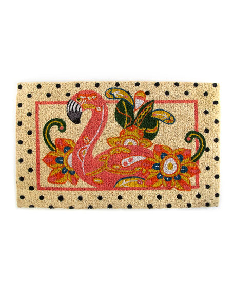 MacKenzie-Childs Flamingo Entrance Mat
