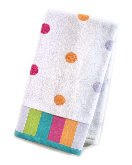 MacKenzie-Childs Trampoline Dot Hand Towel