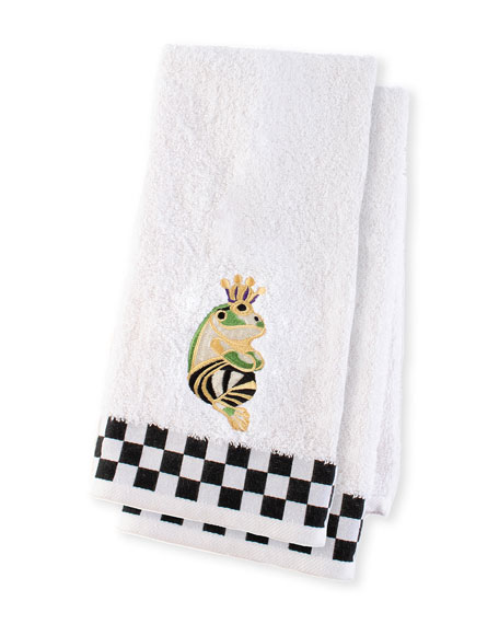 MacKenzie-Childs Frog Hand Towels, Set of 2